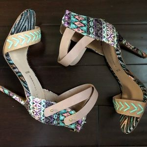 NWOB Chinese Laundry Colorful Sandals